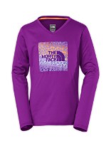 GIRLS' ARGALI LONG-SLEEVE HIKE TEE