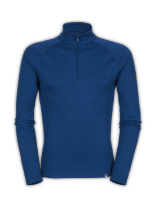 MEN'S WARM BLENDED MERINO LONG-SLEEVE ZIP NECK