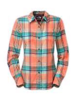 WOMEN'S LONG-SLEEVE ALEMANY PLAID SHIRT