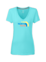 WOMEN'S SHORT-SLEEVE HALF DOME V-NECK