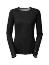 WOMEN'S WARM BLENDED MERINO LONG-SLEEVE CREW NECK