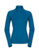 WOMEN'S WARM BLENDED MERINO LONG-SLEEVE ZIP NECK