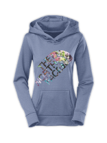 WOMEN'S FAVE WATERCOLOR MOSAIC HOODIE