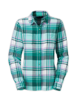 WOMEN'S LONG-SLEEVE POMARIA PLAID SHIRT