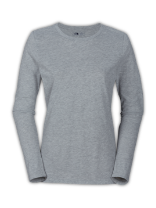 WOMEN'S LONG-SLEEVE SUEDED CREW