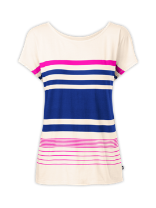 WOMEN'S SHORT-SLEEVE TAREYNA STRIPED CREW
