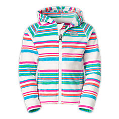 TODDLER GIRLS' STRIPED GLACIER FULL ZIP HOODIE