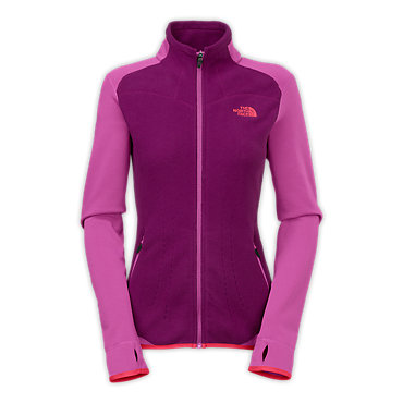 photo: The North Face Women's Jacquard Split Full Zip fleece jacket