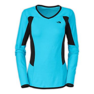 photo: The North Face Split V-Neck long sleeve performance top