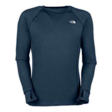 photo: The North Face Women's Stretch Softwool Crew base layer top