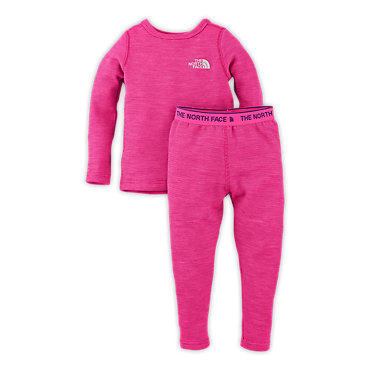 photo: The North Face Girls' Infant Baselayer Set one-piece base layer
