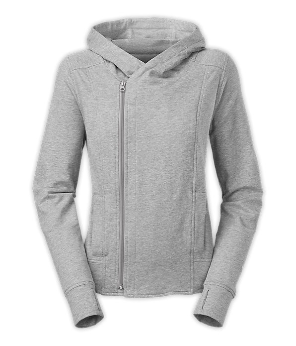 Womens Gray North Face Hoodie