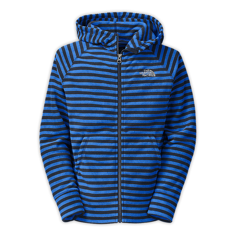 BOYS' STRIPED GLACIER FULL ZIP HOODIE