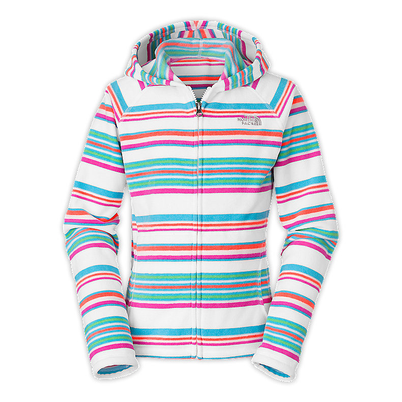 GIRLS' GLACIER STRIPED FULL ZIP HOODIE
