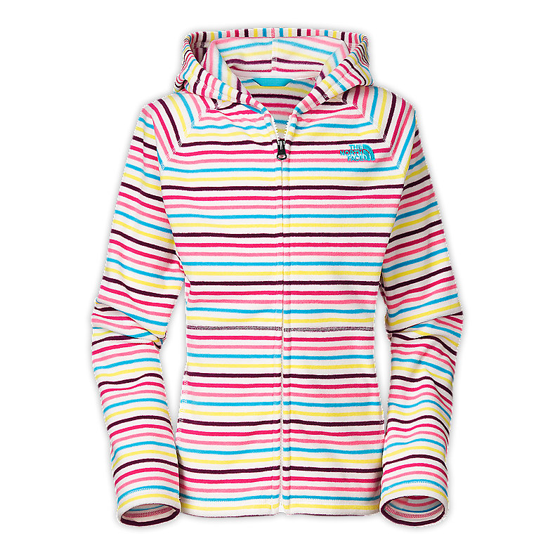 GIRLS' STRIPED GLACIER FULL ZIP HOODIE