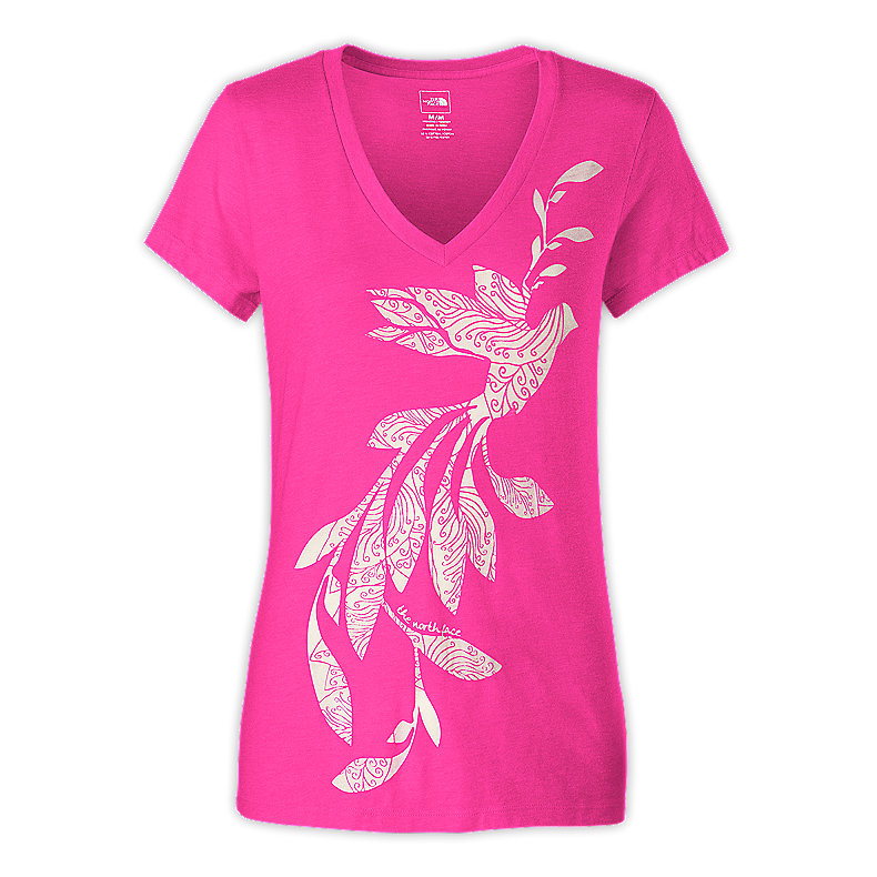 WOMEN'S JANALEE V-NECK BURN-OUT TEE
