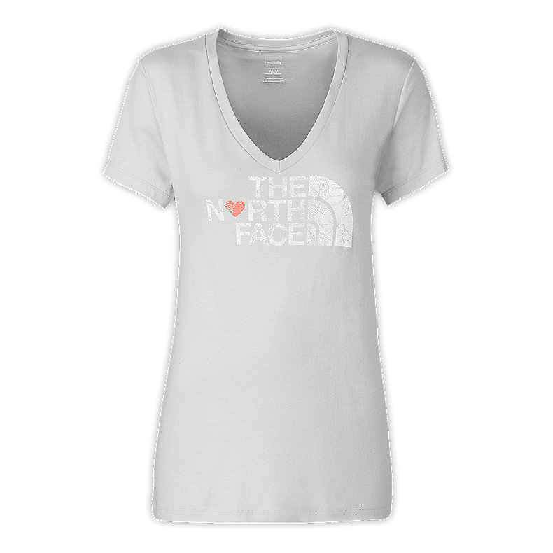 WOMEN'S S/S LUV TREE V-NECK TEE