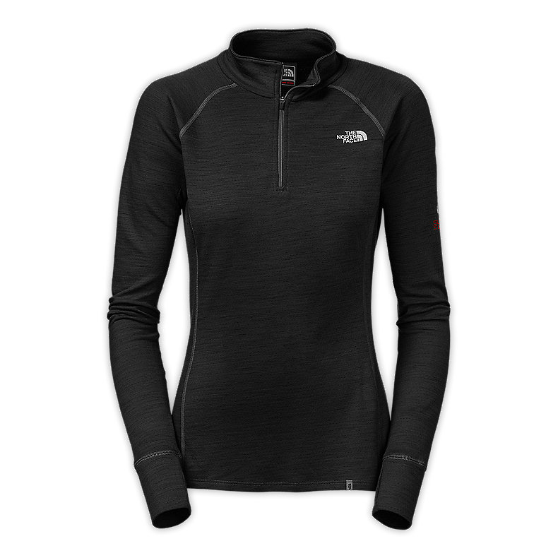 WOMEN'S WARM MERINO ZIP NECK