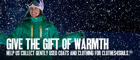 Clothes4Souls - Donate your gently used coats at The North Face retail locations
