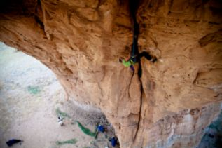 the north face athlete alex honnold in ennedi