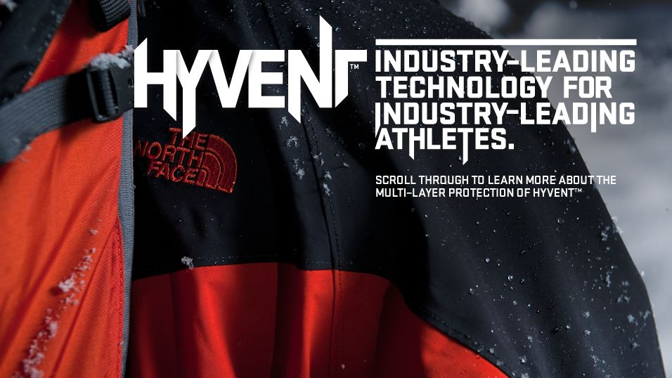 The North Face HyVent technology