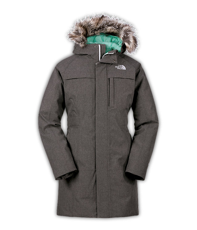 The north face w arctic parka graphite grey