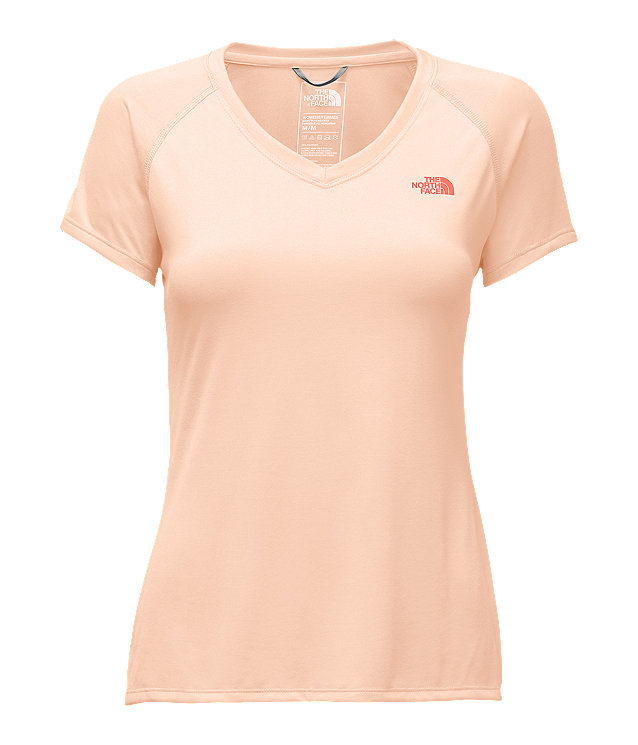 WOMEN'S SHORT-SLEEVE REAXION AMP V-NECK TEE