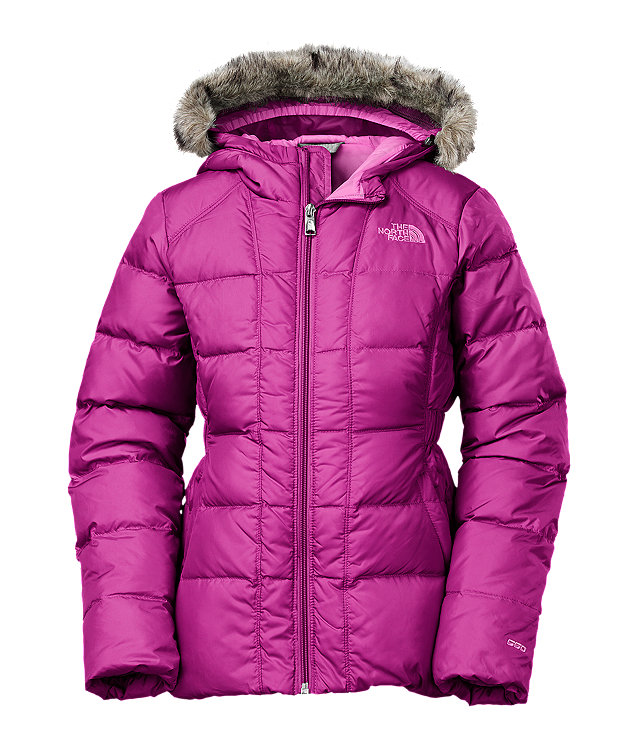 Up for sale is a girl's Greenland down parka from the North Face. Waterproof DryVent™ jacket with fill down insulation. Removable faux-fur trim on fixed hood.