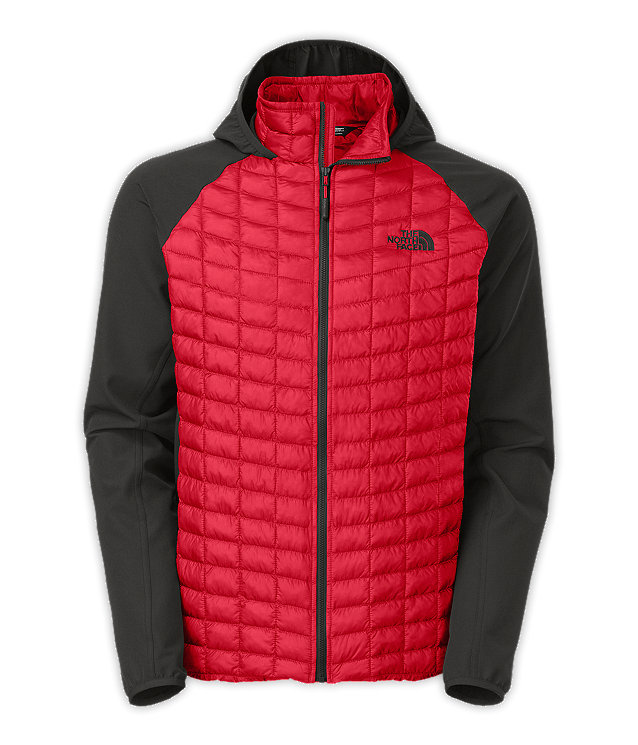 North face thermoball parka red