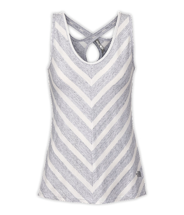 WOMEN'S STRIPED BREEZEBACK TANK