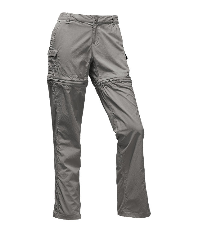 Women's Clothing Womens The North Face Gray Hiking Trail Zip Off Convertible Belt Pants 6 X 31 The Latest Fashion Pants
