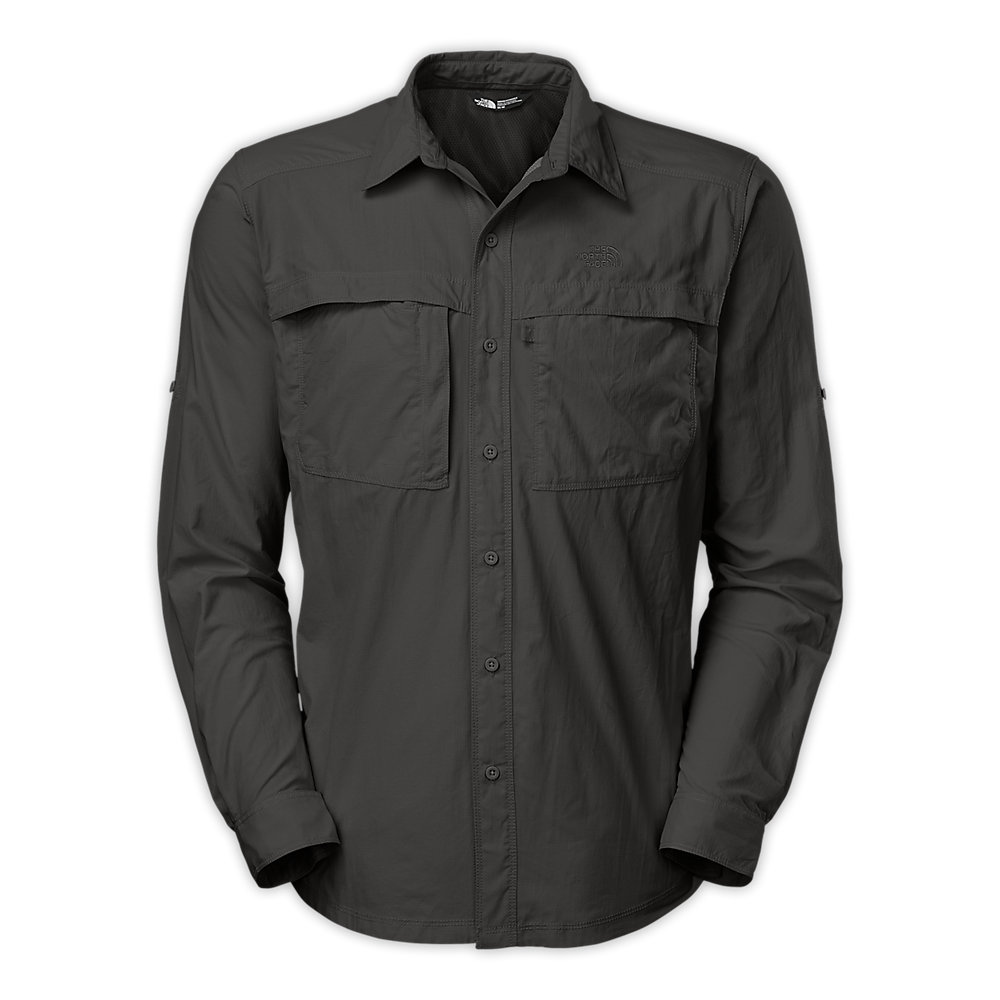 Yayu Mens Long Sleeve Button Front Classic Fit Frontier Shirt