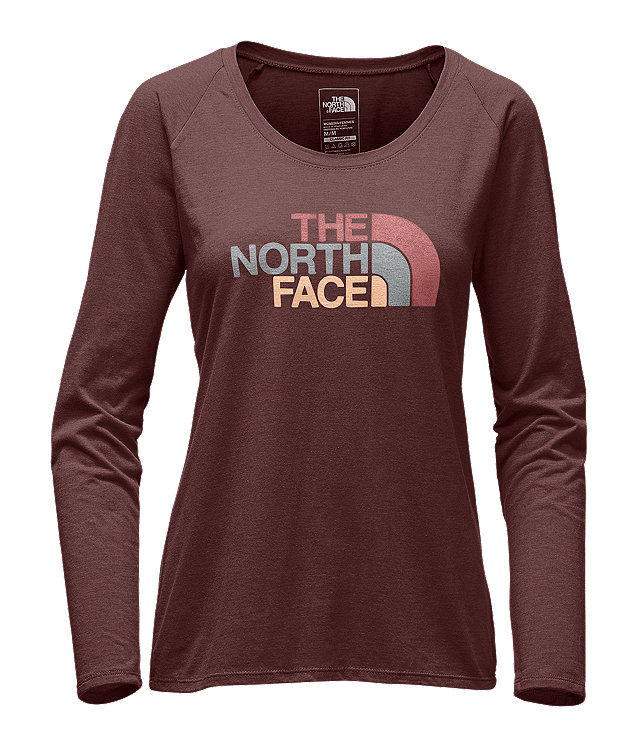 WOMEN'S LONG-SLEEVE HALF DOME SCOOP-NECK TEE