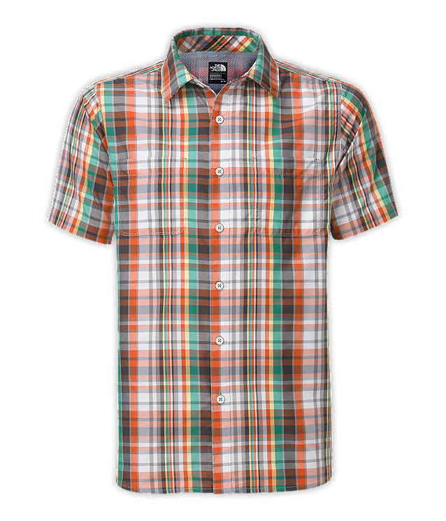 MEN'S SHORT-SLEEVE SOLAR PLAID SHIRT