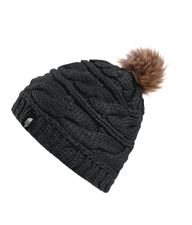 TUQUE À TORSADE TRIPLE FUR POM