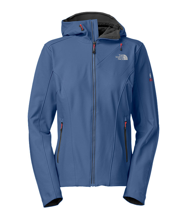 WOMEN'S JET HOODED SOFT SHELL JACKET