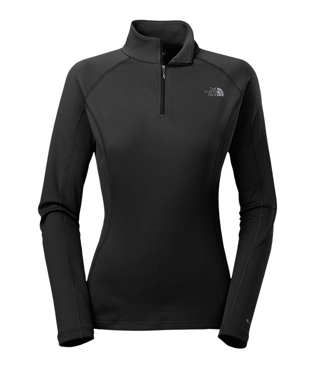 WOMEN'S WARM LONG-SLEEVE ZIP NECK