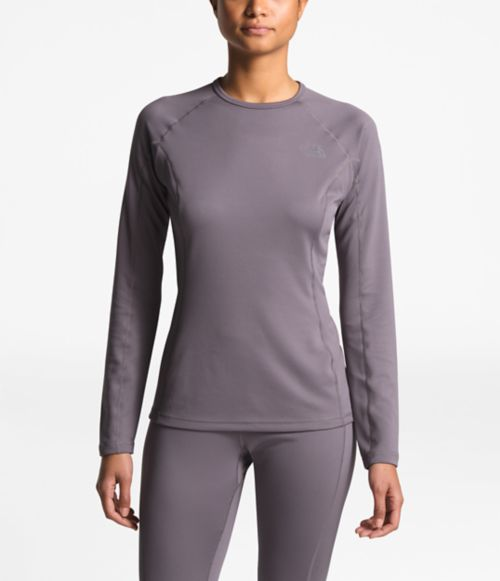 WOMEN'S WARM LONG-SLEEVE CREW NECK-