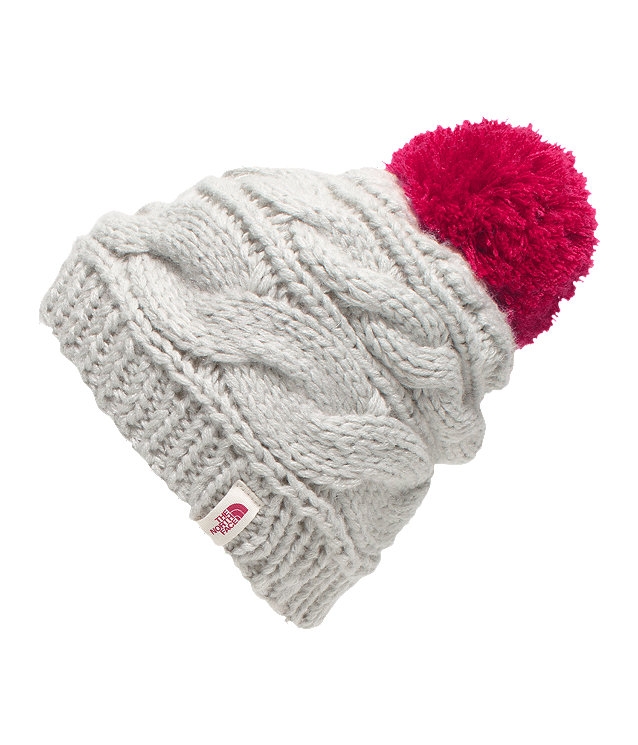 WOMEN S TRIPLE CABLE POM BEANIE  de0fb71d028