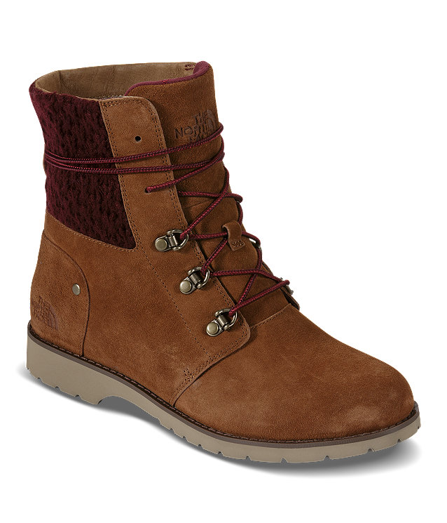 WOMEN'S BALLARD LACE II BOOTS (RED KNIT)