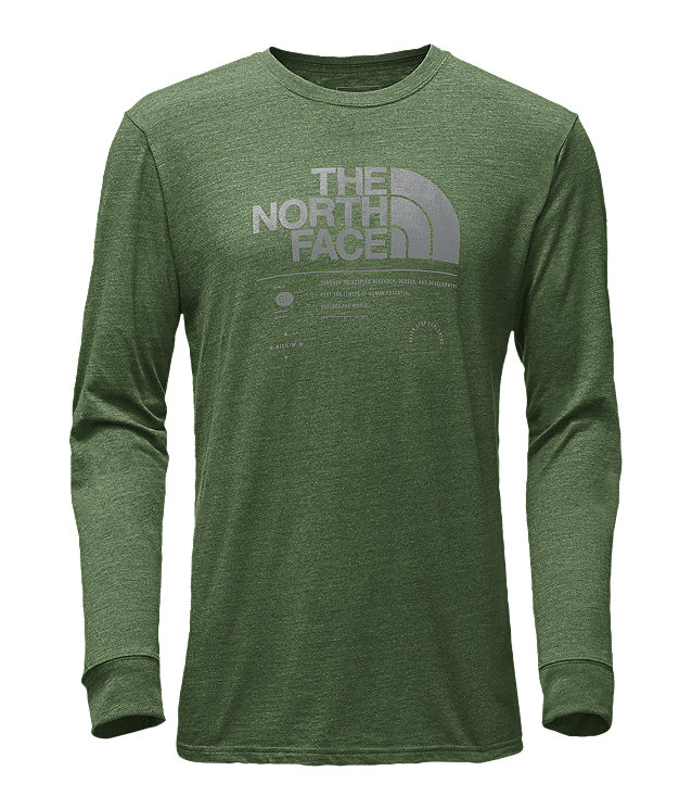 MEN'S LONG-SLEEVE LOGO STACK TRI-BLEND TEE