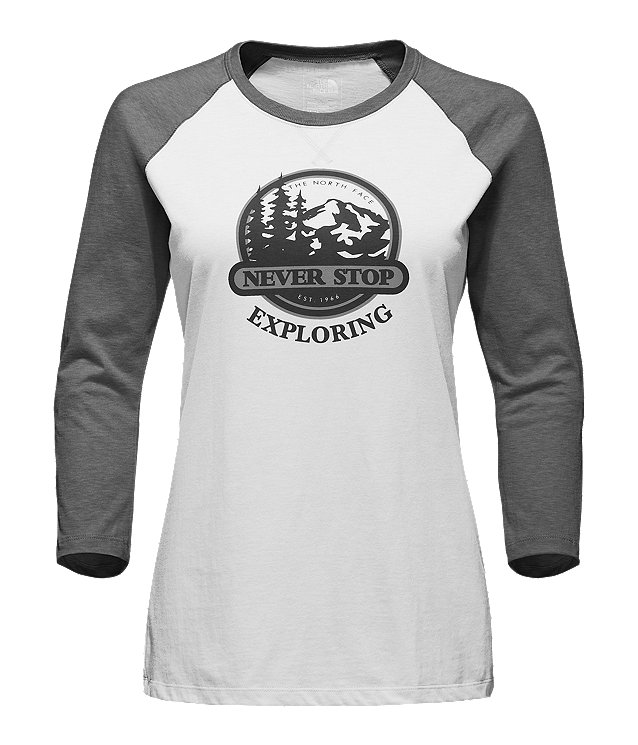 WOMEN'S SIERRA 3/4 SLEEVE BASEBALL TEE