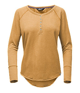 WOMEN'S LONG-SLEEVE TNF™ TERRY HENLEY