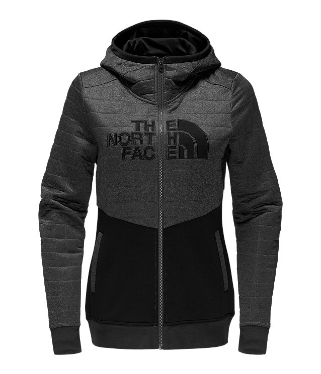 WOMEN'S HALF DOME QUILTED FULL ZIP HOODIE