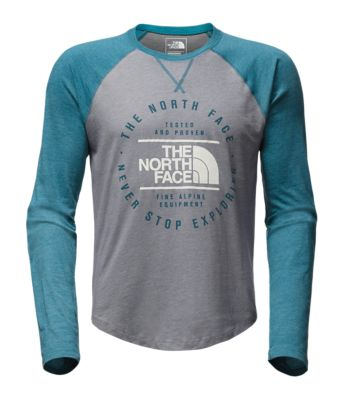 Men's Long Sleeve Double Bar Raglan Baseball Tee by The North Face