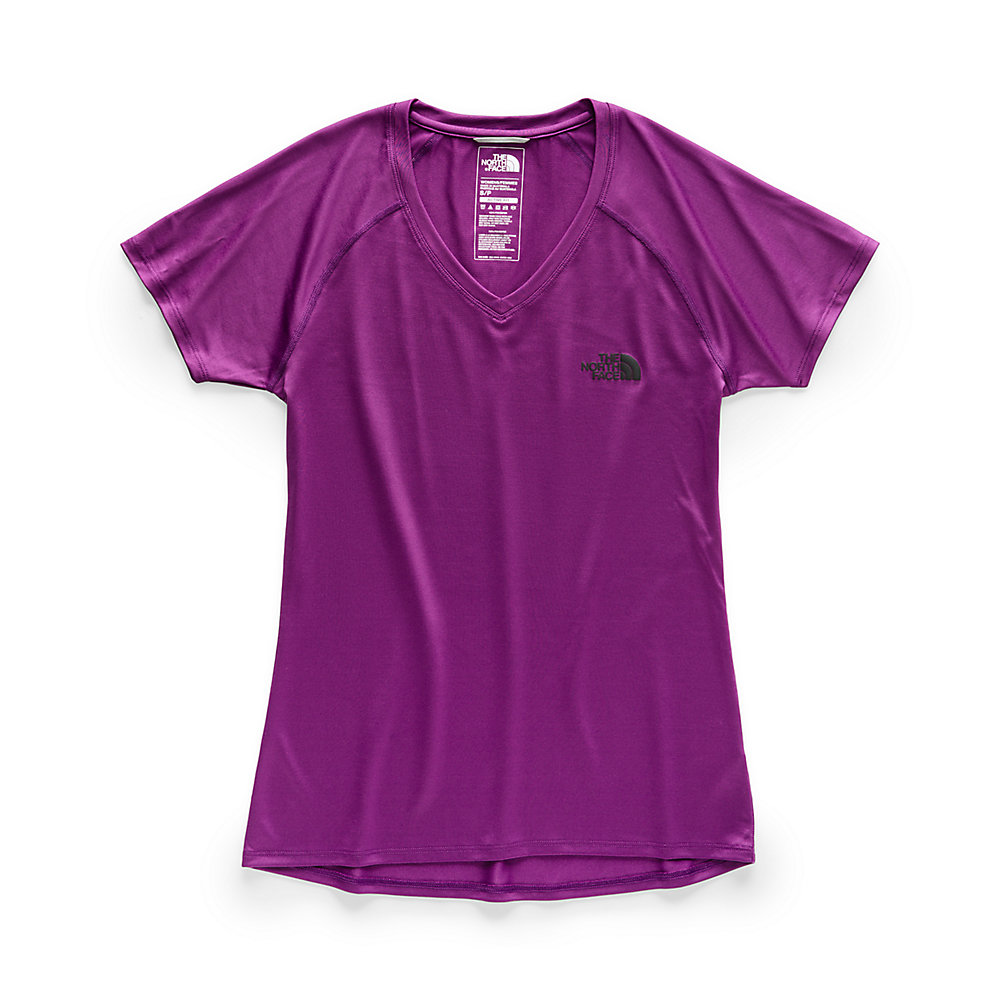 901611c4 WOMEN'S SHORT-SLEEVE REAXION AMP V-NECK TEE | United States