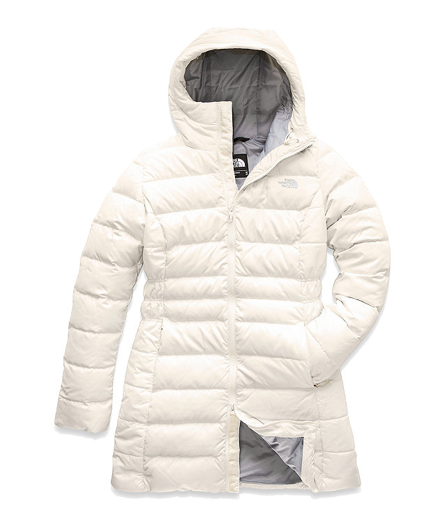 North face women's gotham jacket vintage white