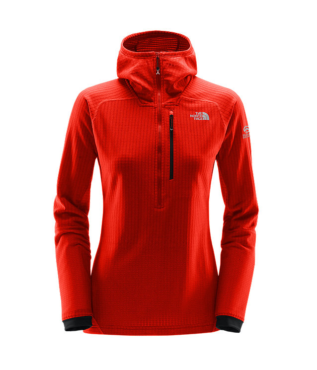 WOMEN'S SUMMIT L2 FUSEFORM™ FLEECE 1/2 ZIP HOODIE