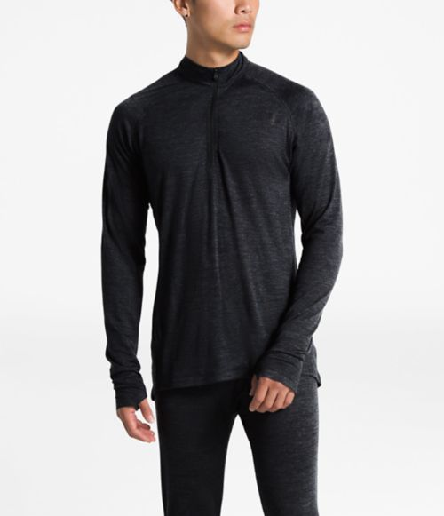 MEN'S WOOL BASELAYER LONG-SLEEVE ZIP NECK-