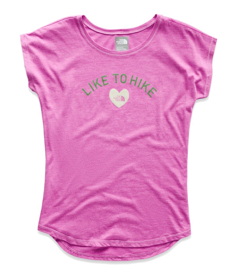 GIRLS' TRI-BLEND SCOOP-NECK TEE-
